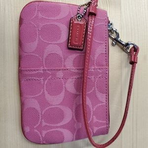 Pink Coach wristlet